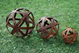 Edelrostkugel Kugel Metall 20 cm Eisen Rost