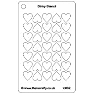 """That's Crafty Dinky Stencil 3""""X4.75""""-Hearts Background"""
