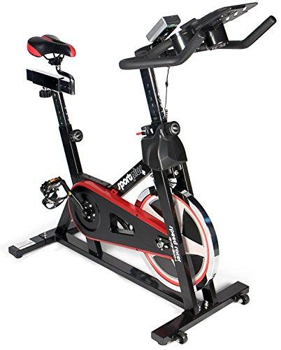 SportPlus Speedracer/Speedbike mit Tablethalterung und App-Anbindung, Bluetooth-Brustgurt Kompatibel, ca. 13kg Schwungrad, Widerstand stufenlos Einstellbar, SP-SRP-2100-i