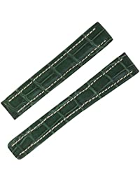 Breitling P1371514mm Véritable Crocodile Vert bande montre en cuir