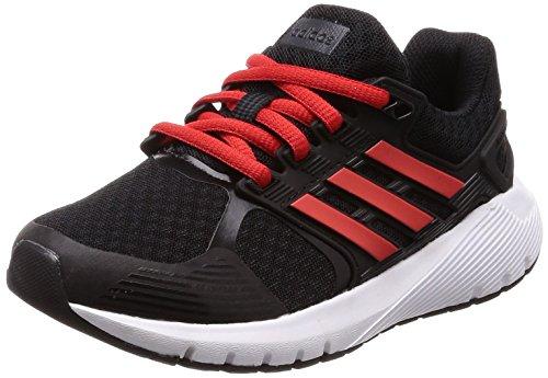 adidas Unisex-Kinder Duramo 8 Laufschuhe, Schwarz (Core Black/Hi-Res Red S18/Carbon S18), 38 2/3 EU