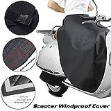 Copertura per Scooter Protezione Invernale per Moto Impermeabile Resistente alle Intemperie Copertura per Moto Protezione per Gambe Scooter Plus Ginocchiere Spesse Calde in Velluto