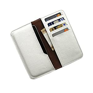 i-KitPit : PU Leather Wallet Flip Pouch Case For Intex Cloud Y4 (WHITE)