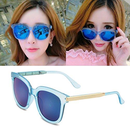 sonnenbrille, meine damen, popstars, brille, neue runde, personalisierte sonnenbrille, frauen - runde gesicht, die koreanischen männer augen,Die Blau - transparenten (stoff)