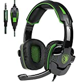 SADES SA930 3.5MM Stereo Surround Gaming Headset with Microphone Volume Control Headphones for PC/MAC/PS4/Smartphone/Table