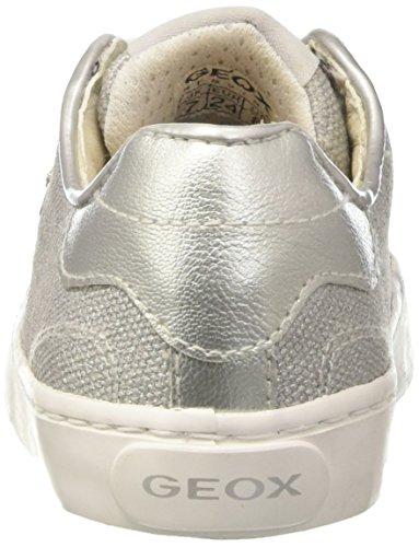 Geox Jr Kilwi Girl, Scarpe da Ginnastica Basse Bambina Grigio (LT Grey C1414)
