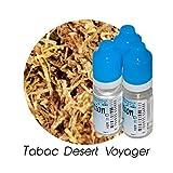 Ma Potion - Lot de 3 E-Liquide TABAC Desert Voyager, Eliquide Français Ma Potion, recharge cigarette électronique. Sans nicotine ni tabac