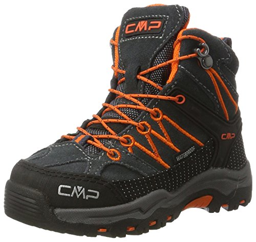 CMP Campagnolo Unisex-Kinder Rigel Mid WP Trekking-& Wanderstiefel, Schwarz (Asphalt), 28 EU