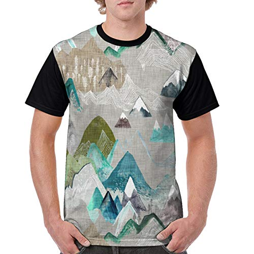 Call of The Mountains Men T Shirt Cotton Long Party Lightweight Large