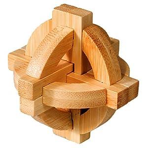 Fridolin 17495 - Rompecabezas de bambú (nivel 3: dilema)