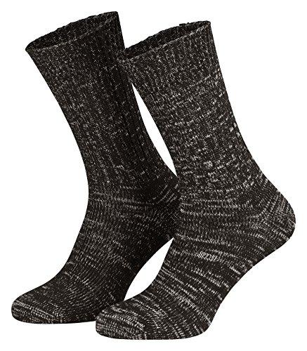Piarini Baumwollsocken / Jeanssocken für Herren und Damen aus atmungsaktive Baumwolle | 5er Pack | Schwarz Gr. 35-38