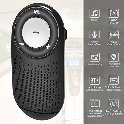 DYWLQ Freisprecheinrichtung Bluetooth Sonnenblende Car Kits für Smartphone-Geräte, Auto-Sender Bluetooth-Bewegung Stereo-Musik-Lautsprecher, Unterstützung Siri Google Assistant