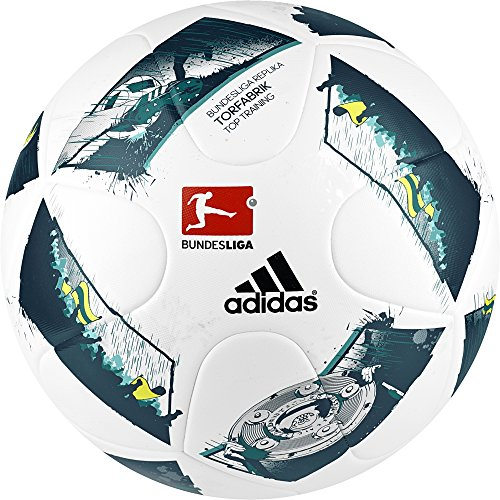 adidas Dfl Torfabrik Training Liga Fußball, White/Black/Solar Red, 5