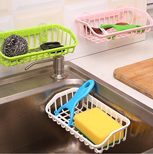 Lek Yuen wasser Racks Wasser - waschen Schüssel schwamm zugeben Rack schwamm Geschirr Regal, Wassermelone rot ()