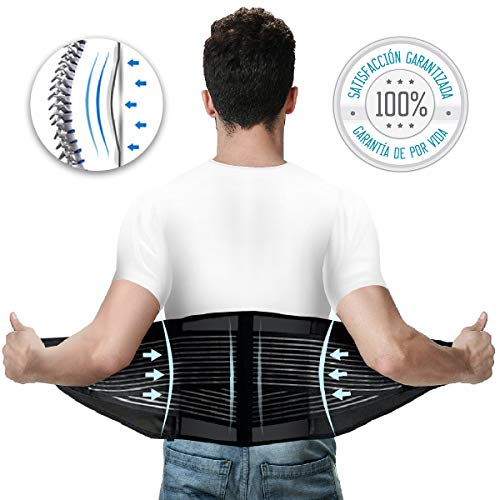 Tillmann's Health Faja Lumbar Hombre Talla L 90-105 cm | Fajas Lumbares para Hombre | Faja Lumbar Ortopedica | Ideal para Trabajo – Dolor de Espalda – Gimnasio – Hernia Discal para Hombre Y Mujer