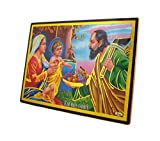 Avercart The Holy Family of Nazareth - Jesus Christ, Mary and Joseph / Christian Poster 18x13 cm Table-top Acrylic Photo Frame (7x5 inch framed)