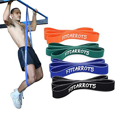 Fitnessbänder, Widerstandsbänder, Trainingsbänder, Gymnastikbänder für alle Muskelgruppen mit Trainingsguide im Set oder einzeln (4 TLG. Set)