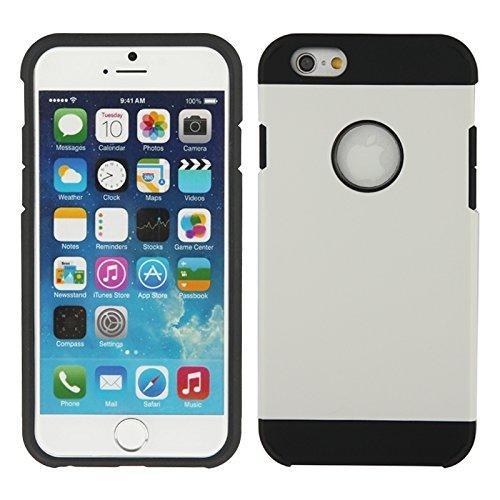 Phone case & Hülle Für IPhone 6 / 6S, Schild Serie PC + Silikon Kombi-Gehäuse ( Color : Dark Red ) White