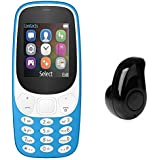 Qualtos A3310 Multimedia Dual Sim Mobile Phone With Mini Ultra-Small S530 4.0 Stereo Bluetooth Headset Earphone Earbud