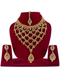 Gold Plated Necklace Sets For Women | Bridal Jewellery Sets For Wedding Girl | Bridal Necklace Sets For Women...