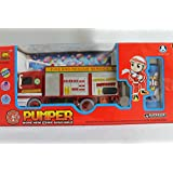 NEW FIRE BRIGADE BUBBLE BLOWING MACHINE PUMPER BLOWER KIDS TOY BUMP AND GO BIRTHDAY GIFT