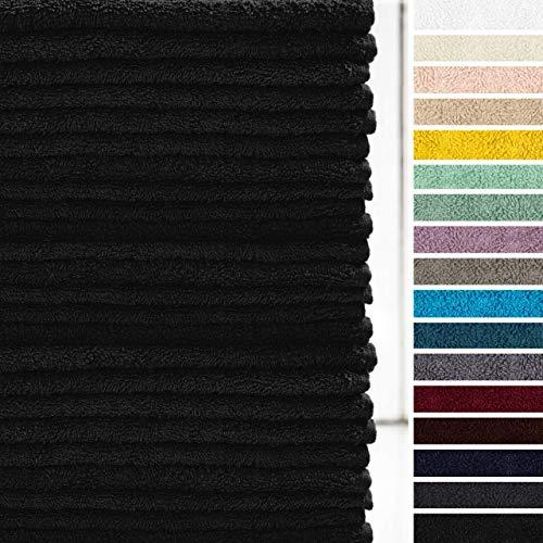 Lumaland Premium 24er Set Seiftücher Handtücher Frottee 30 x 30 cm aus 100{96a369357b7e17f71cf4c4205b23477a1233335fa089dacb4042cf7a9cd3f04c} Baumwolle 420 g/m² mit Aufhänger schwarz