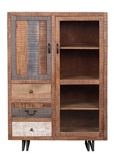The Wood Times Kommode Highboard Schrank Massiv Vintage Look New Rustic Mangoholz, BxHxT 95x135x45 cm - 3