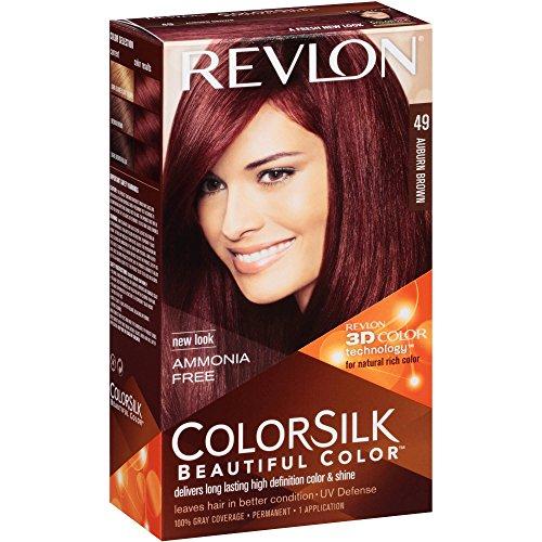 revlon coloration permanente colorsilk beautiful color couleur radieuse longue tenue couleur 49 brun auburn - Auburn Coloration