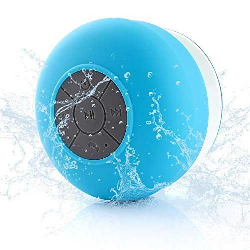 Neuftech Bluetooth Cassa Altoparlante Impermeabile da Doccia - Wireless Speaker Waterproof Con Microfono Integrato Per Smartphone Apple iphone 6s 6 Plus 5s 5c 4s, Samsung Galaxy S6 Edge S5 Note 5 4 3, HTC, Mp3 Player - Azzurro