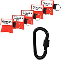 Gimars CPR Maske mit Karabinerhaken CPR Mask RESPI-Key Beatmungsmaske Schlüsselanhänger Beatmungshilfe Notfalltuch... preisvergleich bei billige-tabletten.eu