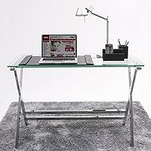 Escritorio cristal templado for Mesas de escritorio amazon