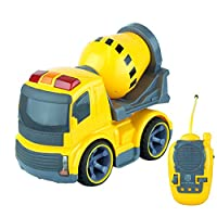Remote Controlled Construction Toy Trucks with Lights & Sounds - Full Direction Movement RC (Cement Mixer)