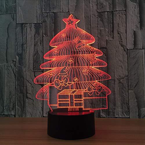 Dwthh 3D Led Wohnkultur Büro Licht 7 Farben Ändern Gradienten Weihnachtsbaum Leuchtende Atmosphäre Baby Schlaf Nachtlicht Kinder Geschenke