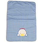 Guru Kripa Baby Products™ Presents New Born Baby Bed Protector Waterproof Multipurpose Changing Mat Plastic Sheets Baby Changer Sheet Cotton Foam Cushioned Sleeping Mat & Changing Mat Unisex, 0-9 Months, Pack Of 1 (Blue, 60cmX43cm)
