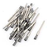 3mm à queue ronde gris en forme de stylo Pinceaux polissage outil Lot de 30