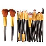 CYD Cyond 18 Stück Makeup Pinsel Set Werkzeuge Makeup Kultur Set Wolle MakeUp Pinsel Set (Schwarz)