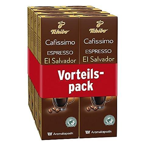 Tchibo Cafissimo Ländersorten Espresso El Salvador, 80 Kapseln in Großverpackung