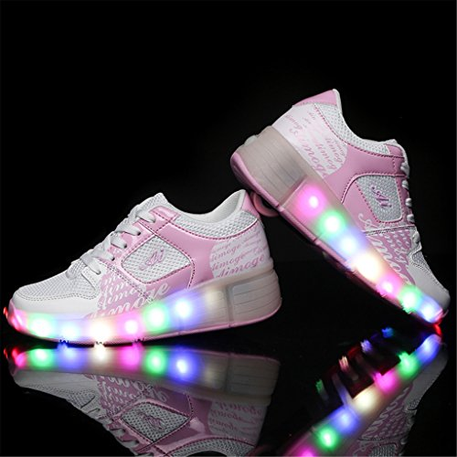 Rollschuhe mit LED Schuhe mit Rollen licht light halbschuh