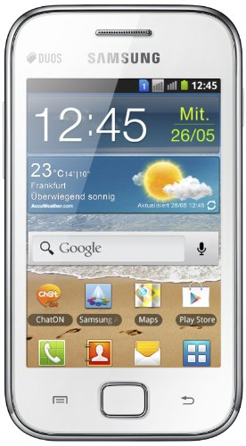 Samsung Galaxy Ace Duos S6802 Smartphone (8,9 cm (3,5 Zoll) Touchscreen, 5 Megapixel Kamera, Android 2.3) chic-white Ace Handy