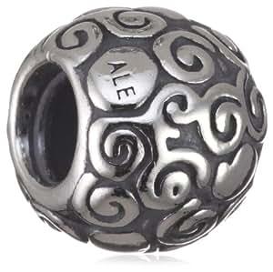 Pandora Damen-Bead  Sterling-Silber 925 Kugel mit Spiral- und Herzornamenten KASI 79161