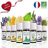 8 x 10 ml Huiles essentielles BIO + guide d'aromathérapie  AB HEBBD - HECT -...