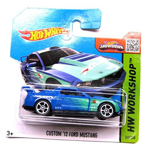 Hot Wheels Ford Mustang 2012 Custom blau-grün 240/250 1:64