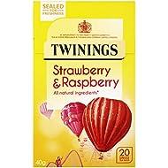 Twinings Strawberry & Raspberry x20 Tea Bags, 40g