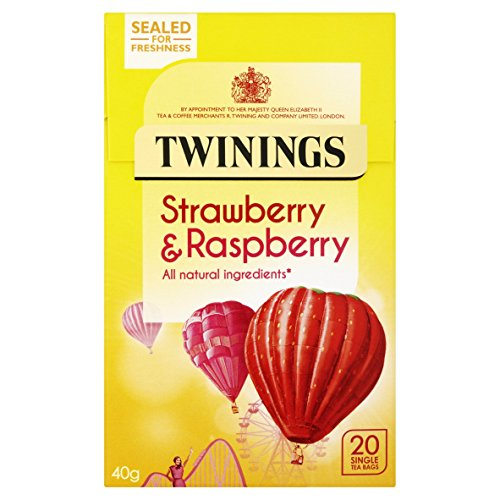Twinings Raspberry & Strawberry 20 Tea Bags (Pack of 4, total 80 Tea Bags)