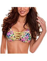 RELLECIGA bañador partes de arriba de bikinis de mujer Triángulo Top criss cross