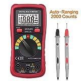 Tacklife DM02A Klassisches Digital Multimeter Auto Range Multi Tester mit Non Contact Voltage zum Messen von Gleich(DC) - und Wechsel(AC)-Spannung, Strom, Dioden sowie Widerstand Meter mit Hintergrundbeleuchtung