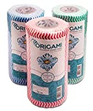 #1: Origami Nonwoven Reusable & Washable Kitchen Wipes - 3 Rolls - 80 Wipes Per Roll (Total 240 Wipes)