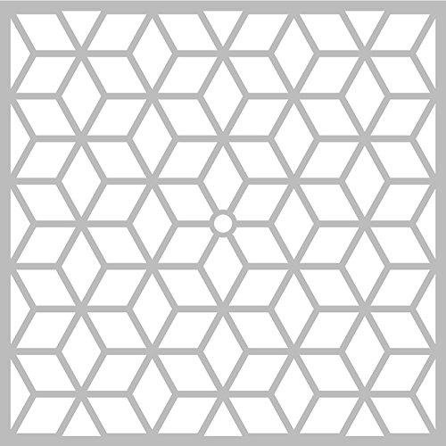 Pochoir Géométrique 32 x 32 cm - Pochoir Artemio - Stencil Géométrique