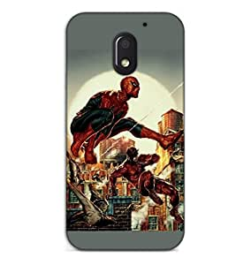 Happoz Motorola Moto E3 Power (3rd Generation) Cases Back Cover Mobile Pouches Shell Hard Plastic Graphic Armour Premium Printed Designer Cartoon Girl 3D Funky Fancy Slim Graffiti Imported Cute Colurful Stylish Boys D259