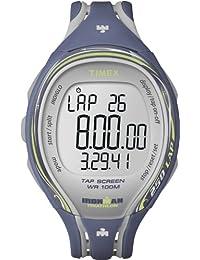 Timex Timex Ironman Sleek 250 Lap T5K592 - Reloj digital de cuarzo para mujer, correa de plástico color azul (alarma, cronómetro, registro de vueltas, luz)
